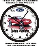 mustang car clock - 1994 FORD MUSTANG COBRA INDY PACE CAR WALL CLOCK-FREE USA SHIP!