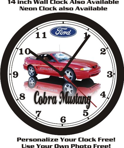 1994 FORD MUSTANG COBRA INDY PACE CAR WALL CLOCK-FREE USA SHIP! ()