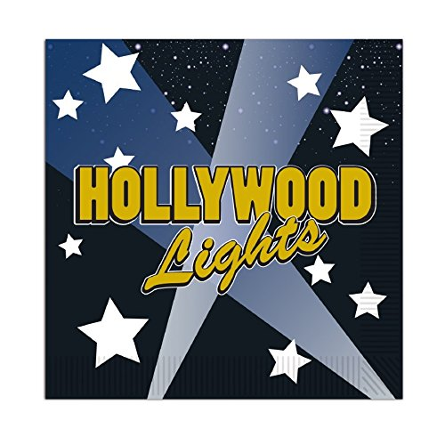 Hollywood Lights Beverage - Club Pack of 192 Multi-Colored Hollywood Lights Disposable 2-Ply Beverage Napkins