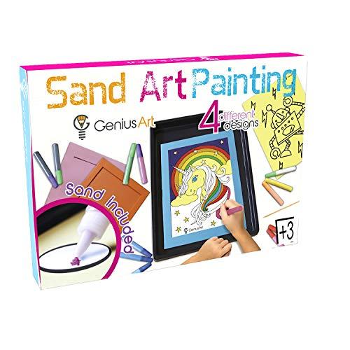 천재 예술 모래 예술 그림-소녀와 소년을위한 예술과 공예 장난감-이 세트는 3 세 어린이를위한 업 스타킹 스터 퍼입니다