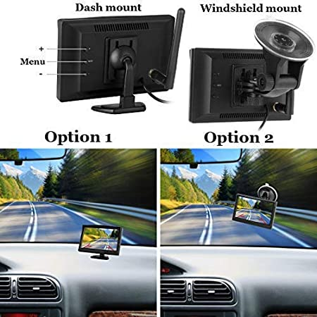 RV Digital Wireless Backup Camera System with 5 inch LCD Monitor Truck Rear View Camera Without Color Difference Night Vision Waterproof Easy Installation Dohonest 4350451670