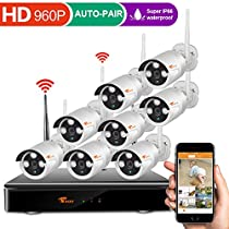 [Forward Wireless Cameras] CORSEE Auto Pair 8CH 960P Wireless Security Camera System with Outdoor 8 x 960P Night Vision Bullet IP Cameras,No Hard Drvie ( Easy Remote View by IOS or Android App)