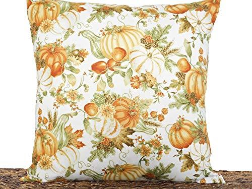 Rustic Floral Orange 20x20 Throw Pillow