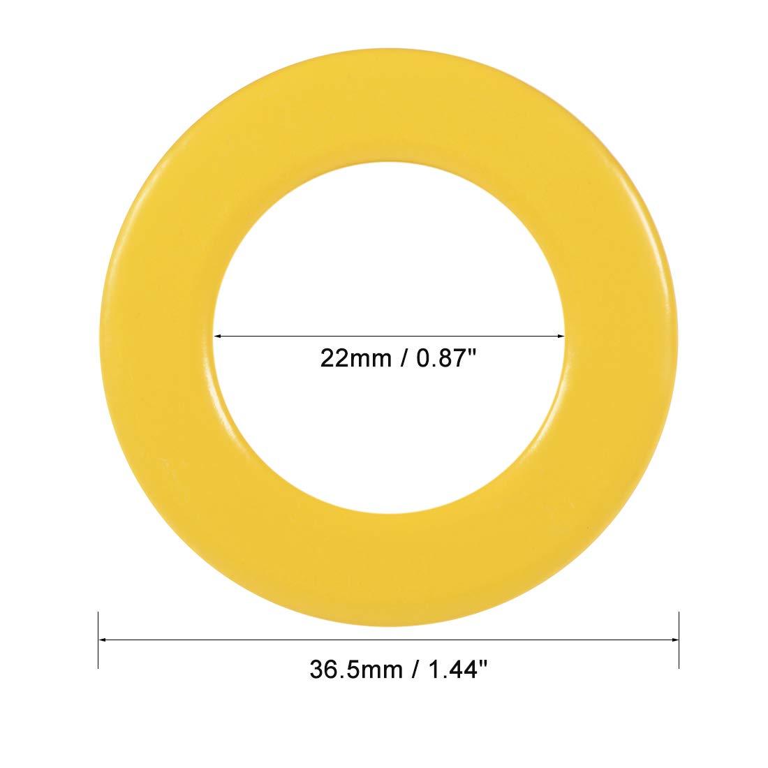 uxcell 17pcs 12 x 20.5 x 9.8mm Ferrite Chokes Ring Iron Powder Toroid Cores Yellow White a18070600ux0038
