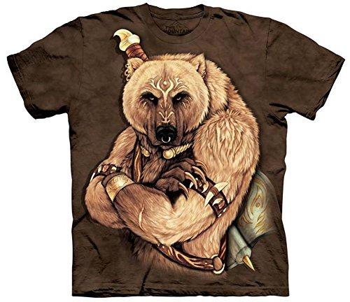 Tribal Bear - Bär als indianischer Krieger - T-Shirt in Erwachsenengröße L