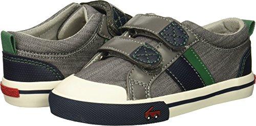 - See Kai Run Boys' Russell Sneaker Gray/Green 12 M US Little Kid