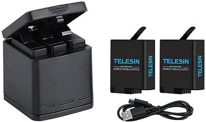 2 canales de doble batería cargador ajusta GoPro HERO 3 3 Accesorios