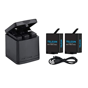 Amazon.com: TELESIN Triple Charger & almacenamiento de la ...