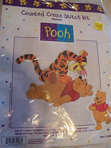 Pounce Disney Pooh Counted Cross Stitch Kit (Tigger Cross Stitch)