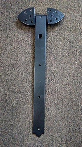 Pair of Steel Rustic Heavy Duty Strap Hinges (2 Sizes to Choose From) (16'')