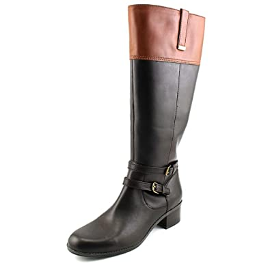 bcb9cfd0b28 Bandolino Womens Carlotta Wide Calf Leather Closed Toe Mid-Calf ...