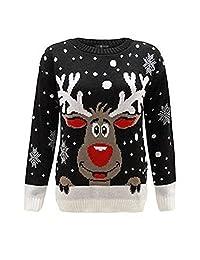 Women'š Plus size Snowflake Star Rudolph Reindeer Novelty Christmas Jumper