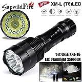 Super Bright CREE XM-L T6 LED 5Mode 18650 Flashlight Torch Light Lamp,Tuscom (14000Lm /14x)