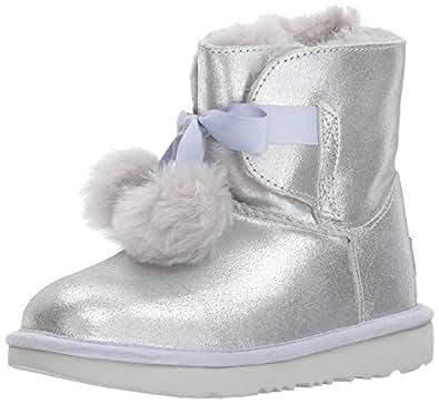 Amazon.com: UGG Kids K Gita Metallic Pull-On Boot: Shoes