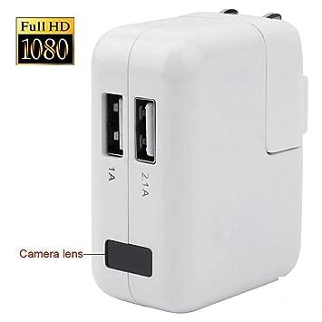 tensky 1920 x 1080P HD portátil Teléfono Cargador espía cámara Mini DV Grabadora de vídeo detección del movimiento de apoyo videocámara: Amazon.es: ...