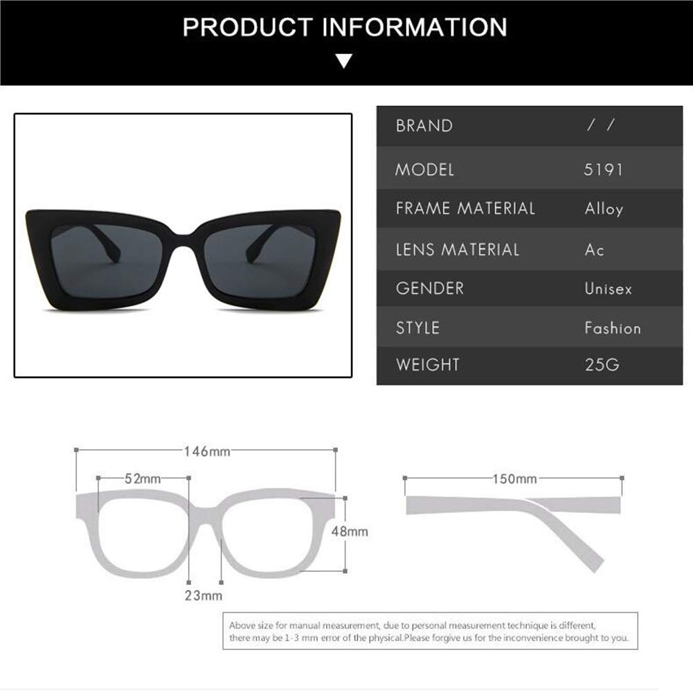 BEESCLOVER Stylish Unisex Retro Square Frame Sunglasses for Outdoor Sports Driving