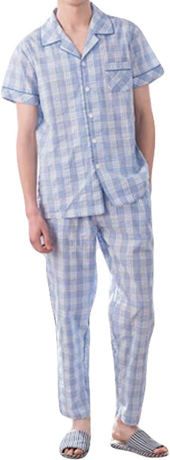 Pijamas para Hombre De Verano Tejida A Cuadros De Rayas Warm ...