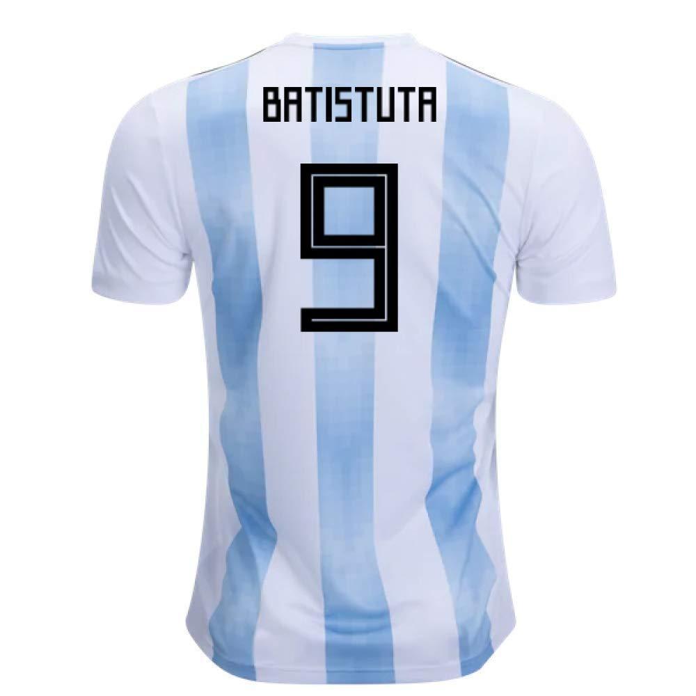 2018-19 Argentina Home Football Soccer T-Shirt Trikot (Gabriel Batistuta 9) - Kids