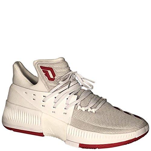Adidas Dame 3 Nba / Ncaa Sko Mænds Basketball RunningHvid / Skarlagen / RunningHvid xUrQMQ1N9