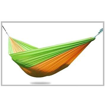 1e81ed7dd YXCXC Paracaídas Paño Deportes Al Aire Libre Que Acampa Hamaca Especial  Sola Hamaca Lona Gruesa Seda Otoño Hilado: Amazon.es: Deportes y aire libre