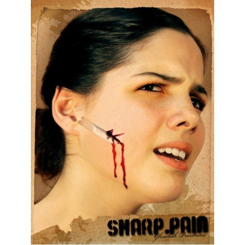 Halloween Face Paint Make Up Wound Creepy Party Costume Sharp Pain]()