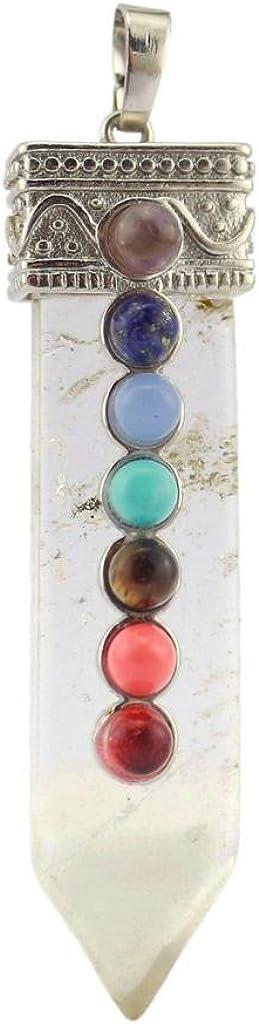 Colgante de Espada Collares Piedra Preciosa Cristal de Cuarzo Chakra Healing Punto Chakra