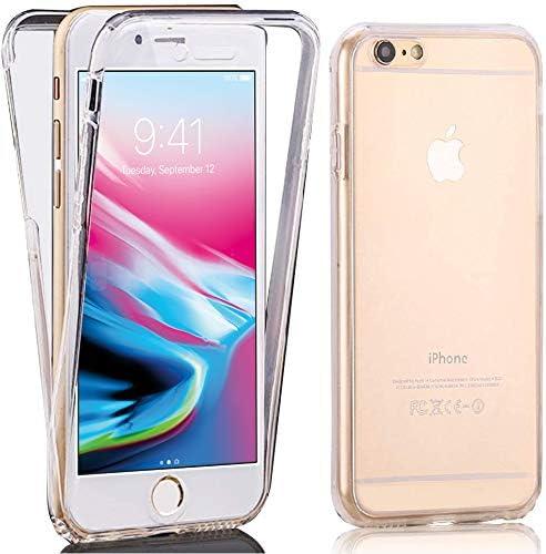iPhone 8 Plus Coque, Zeking 360 ° Protection intégrale anti-rayures avant et arrière en TPU transparent Coque en gel de silicone souple pour Apple ...