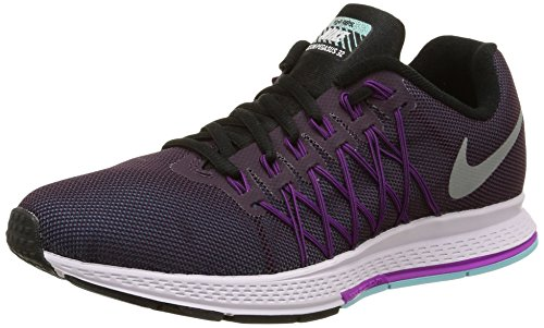 NIKE Women's Air Zoom Pegasus 32 Flash NBL Purple/RFLCT Slvr/VVD Prpl Running Shoe 7 Women US