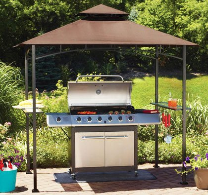 Garden Winds OPEN BOX Replacement Canopy Top Cover for Mainstays' Grill Shelter