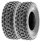 SunF 20x6-10 20x6x10 ATV UTV All Terrain Race Replacement 6 PR Tubeless Tires A017, [Set of 2]