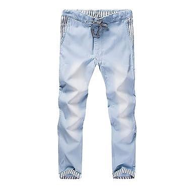 Amazon.com: Pantalones delgados para hombre, estilo casual ...