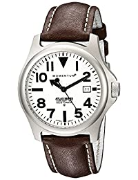 St.Moritz Watch Group Men's 1M-SP00W2C ATLAS Classic Field Watch with Oversize Numbers and Date Watch
