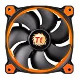 Thermaltake Ring 14 High Static Pressure 140mm Circular LED Case Radiator Cooling Fan CL-F039-PL14OR-A Orange