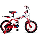 Children's Folding Bike Boy Bicycle 3-12 Year Old Girl Baby Stroller Kids Mountain Bike A+ (Color : A, Size : 14 inches)
