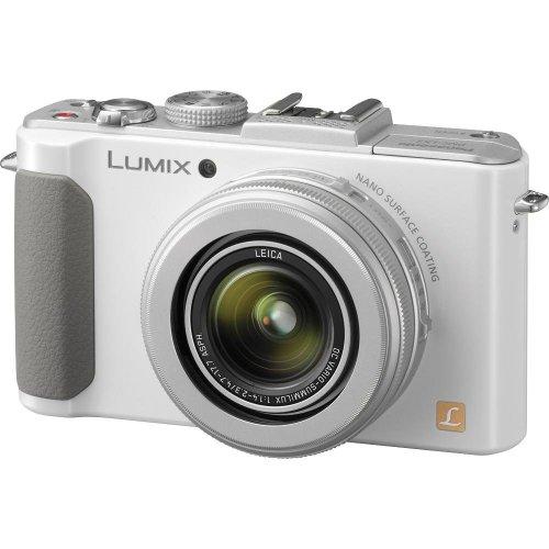 Panasonic LUMIX DMC-LX7W 10.1 MP Digital Camera with 7.5x Intelligent zoom and 3.0-inch LCD - White (Renewed)