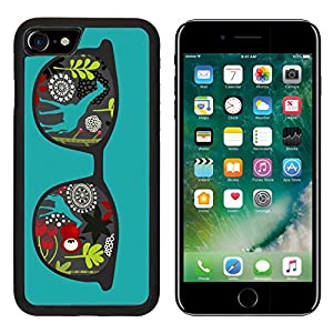 Luxlady Premium Apple iPhone 7 Aluminum Backplate Bumper Snap Case iPhone7 IMAGE ID: 26796465 Retro sunglasses with reflection for hipster Vector illustration of accessory eyeglasses isolated Best