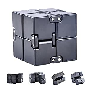 Infinity Cube Fidget Toy, Luxury EDC Fidgeting Game for Kids and Adults, Cool Mini Gadget Spinner Best for Stress and Anxiety Relief and Kill Time, Unique Idea that is Light on the Fingers and Hands