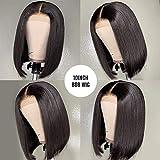 10 Inch Short Bob Wigs Human Hair Lace Closure Wigs