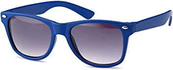 Wayfarer Kindersonnenbrille mit farbigem Rahmen in 4 versch. Farben mit Gläsern in smoke- 100% UV400 Schutz