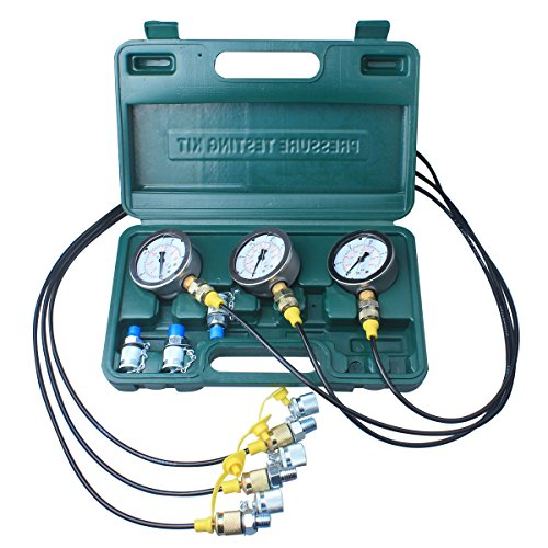 Hydraulic Pressure Test Kit 25//40//60Mpa//11Couplings VEVOR Hydraulic Pressure Gauge Kit Excavator Parts Hydraulic Tester Coupling Hydraulic Pressure Test Kit for Excavator Construction Machinery
