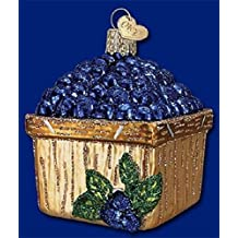 Basket of Blueberries Glass Old World Christmas Ornament Holiday 28102 FREE BOX