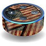 MightySkins Skin For Amazon Echo Dot (2nd Gen) - Vintage American   Protective, Durable, and Unique Vinyl Decal wrap cover   Easy To Apply, Remove, and Change Styles   Made in the USA