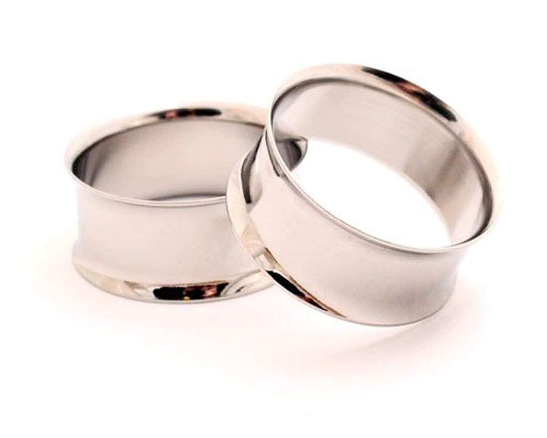 Steel Double Flare Tunnels - 1 Inch - 25mm - Sold As a Pair
