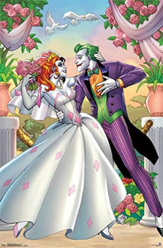 Harley Quinn and Joker - Romance Poster Print (24 x (Injustice Gods Among Us Batman Costumes)