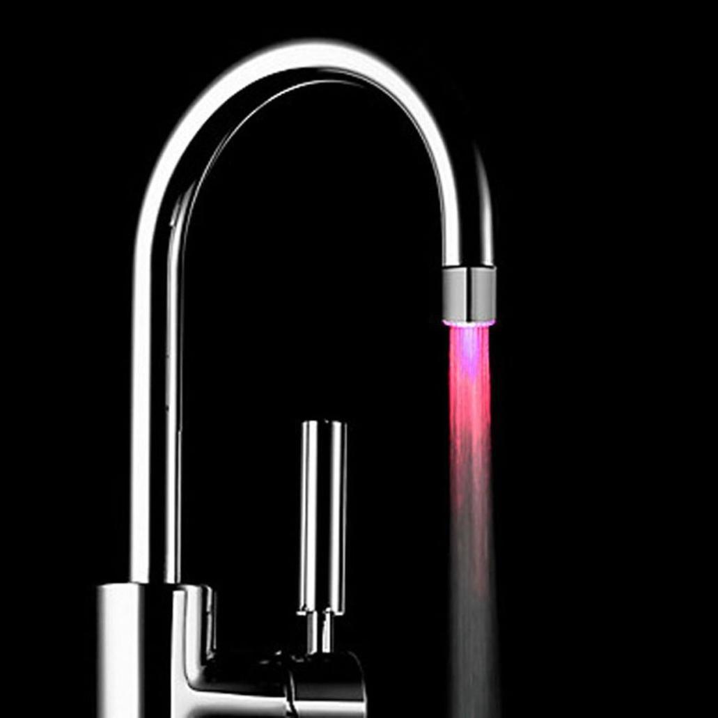 Cuadrarex Cabezal de ducha con luz LED de cambio de color rom/ántico para ba/ño o ba/ño multicolor