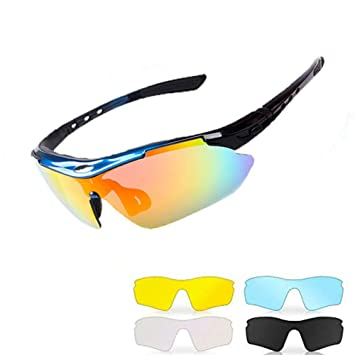 Windproof Eye Protection Polarized Cycling Glasses Explosion proof PC-Lens  TR