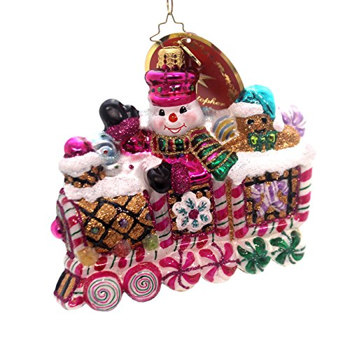 (Christopher Radko Sweet Ride Candy & Sweets Transportation Christmas)