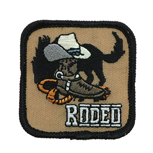 Rodeo Bronc Hat Boots 2 inch patch Ava0511 ()