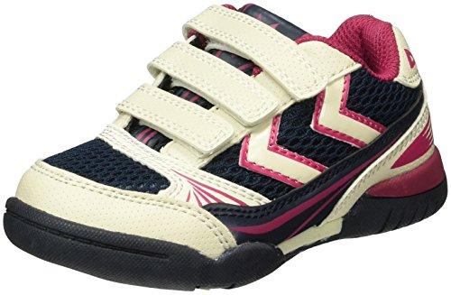 Hummel Root Velcro Jr, Zapatillas Deportivas para Interior Unisex Niños Azul (Total Eclipse)