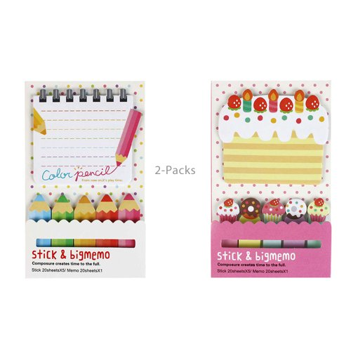 Cake and Pencil Notepads (2 Pack)